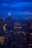 New York City alla notte fotografie stock