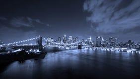 New York City alla notte Immagini Stock