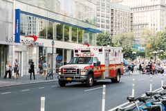 New York City ambulance car Royalty Free Stock Photo