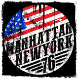 New York City america flag vector print and varsity. For t-shirt. Or other uses in vector.T shirt graphic fashion style Stock Image