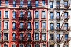 New York City Apartment Building Windows Stock Photos