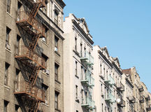 New York City apartment buildings Stock Images