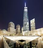 NEW YORK CITY - 17. APRIL: NYC-` s 9/11 Denkmal an Welthandels-CEN Lizenzfreie Stockbilder