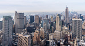 New York City - April 2015, USA: View of Manhattan from Rockefeller Center rooftop Royalty Free Stock Photography