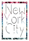 New York city art. Street graphic style NYC. Fashion stylish print. Template apparel, card, label, poster. emblem, t-shirt stamp. Stock Photography