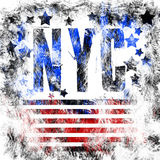 New York City art. Street graphic style NYC. Fashion stylish print. Template apparel, card, label, poster. emblem, t-shirt stamp. Stock Image