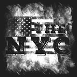 New York city art. Street graphic style NYC. Fashion stylish print. Template apparel, card, label, poster. emblem, t-shirt stamp. Royalty Free Stock Photo