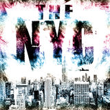 New York city art. Street graphic style NYC. Fashion stylish print. Template apparel, card, label, poster. emblem, t-shirt stamp. New York city art. Street Royalty Free Stock Images