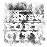 New York city art. Street graphic style NYC. Fashion stylish print. Template apparel, card, label, poster. emblem, t-shirt stamp. Graphics. Handwritten banner royalty free illustration