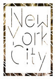 New York city art. Street graphic style NYC. Fashion stylish print. Template apparel, card, label, poster. emblem, t-shirt stamp. Royalty Free Stock Photos