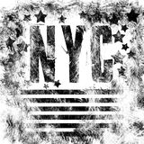New York City art. Street graphic style NYC. Fashion stylish print. Template apparel, card, label, poster. emblem, t-shirt stamp. Stock Photo