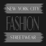 New York city art. Street graphic style NYC. Fashion stylish print. Template apparel, card, label, poster. emblem, t-shirt stamp Stock Images