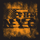 New York city art. Street graphic style NYC. Fashion stylish print. Template apparel, card, label, poster. emblem, t-shirt stamp. Stock Images