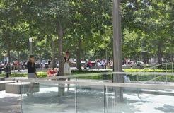 New York City, am 2. August: Bodennullpunkt Memorial Park in Manhattan von New York City Lizenzfreies Stockbild