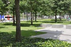 New York City, am 2. August: Bodennullpunkt Memorial Park in Manhattan von New York City Stockbilder