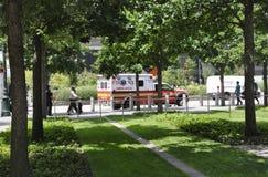 New York City, am 2. August: Bodennullpunkt Memorial Park in Manhattan von New York City Stockfotos