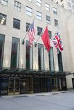 Christie`s main headquarters at Rockefeller Plaza in New York. NEW YORK CITY - AUGUST 8, 2018: Christie`s main headquarters at Rockefeller Plaza in New York stock photos