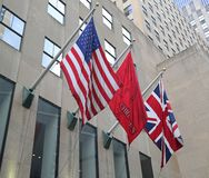 Christie`s main headquarters at Rockefeller Plaza in New York. NEW YORK CITY - AUGUST 8, 2018: Christie`s main headquarters at Rockefeller Plaza in New York royalty free stock photo