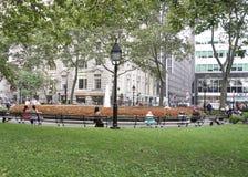 New York City,August 2nd:Battery Park in Lower Manhattan New York City stock image