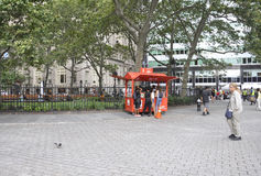 New York City,August 2nd:Battery Park in Lower Manhattan New York City royalty free stock photography