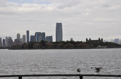 New York City,August 2nd:Ellis Island from Hudson river in New York City stock photos
