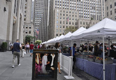 New York City,August 3nd:Flywheel Market in the Rockefeller Plaza in Manhattan in New York City royalty free stock image
