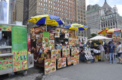 New York City,August 2nd:Foodcart in Battery Park from Manhattan in New York City royalty free stock image
