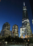 New York City,August 2nd:Freedom Tower Building by night in Manhattan from New York City royalty free stock images
