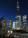 New York City,August 2nd:Freedom Tower Building by night in Manhattan from New York City stock images