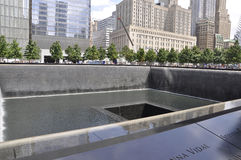 New York City,August 2nd:Ground Zero Memorial in Manhattan in New York City Royalty Free Stock Image