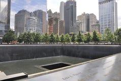 New York City,August 2nd:Ground Zero Memorial in Manhattan in New York City royalty free stock photos
