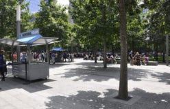 New York City,August 2nd:Ground Zero Memorial Park in Manhattan from New York City stock photo