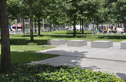 New York City,August 2nd:Ground Zero Memorial Park in Manhattan from New York City Stock Photo
