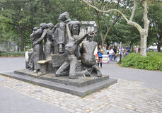 New York City,August 2nd:The Immigrants Memorial from Battery Park in Lower Manhattan New York City royalty free stock images