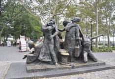 New York City,August 2nd:The Immigrants Memorial from Battery Park in Lower Manhattan New York City stock photos