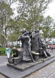 New York City,August 2nd:The Immigrants Memorial from Battery Park in Lower Manhattan New York City royalty free stock image