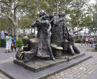 New York City,August 2nd:The Immigrants Memorial from Battery Park in Lower Manhattan New York City stock photo