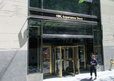 New York City,August 3nd:NBC building entrance from Rockefeller Center in Manhattan in New York City Stock Images