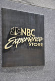New York City,August 2nd:NBC logo from Rockefeller Plaza in Manhattan in New York City royalty free stock images