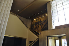 New York City,August 2nd:Rockefeller Center building interior in New York City royalty free stock photo