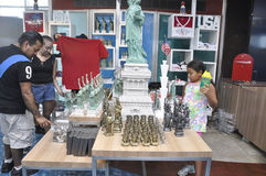 New York City,August 2nd:Souvenirs Shop from Statue of Liberty island in New York City Royalty Free Stock Photo