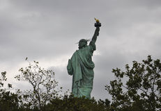 New York City,August 2nd:Statue of Liberty on a dramatic sky in New York City Royalty Free Stock Images