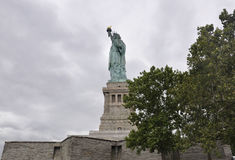 New York City,August 2nd:Statue of Liberty Island on a dramatic sky in New York City Stock Photo