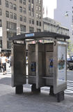 New York City,August 2nd:Street Telephone Cabin from Manhattan in New York City. Street Telephone Cabin from Manhattan in New York City on august 2nd 2016 Stock Image