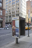 New York City,August 2nd:Street Telephone Cabin from Manhattan in New York City. Street Telephone Cabin from Manhattan in New York City on august 2nd 2016 Royalty Free Stock Photography