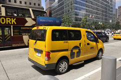 New York City,August 2nd:Taxi Car from Manhattan in New York City Stock Photos