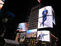 New York City,August 3nd:Times Square Advertising by night in Manhattan in New York City Stock Photos