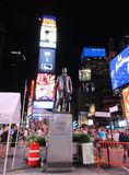 New York City,August 2nd:Times Square Monument by night in Manhattan in New York City Royalty Free Stock Images