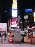 New York City,August 2nd:Times Square Monument by night in Manhattan in New York City Royalty Free Stock Photography