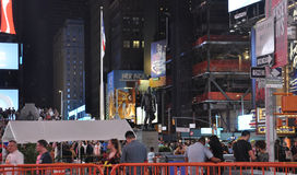 New York City,August 3nd:Times Square by night in Manhattan in New York City Royalty Free Stock Images